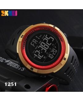 Αθλητικό ρολόι χειρός ανδρικό SKMEI 1251 GOLD NAD RED με βηματομετρητή
