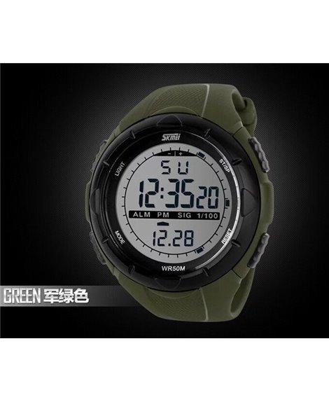 Αθλητικό ρολόι χειρός ανδρικό SKMEI 1025 Army Green