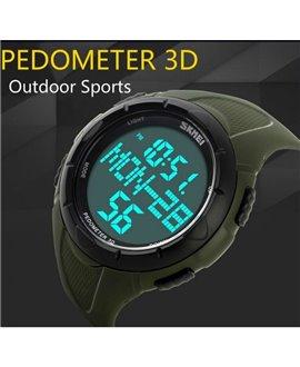 Αθλητικό ρολόι χειρός ανδρικό SKMEI 1122S GREEN με βηματομετρητή
