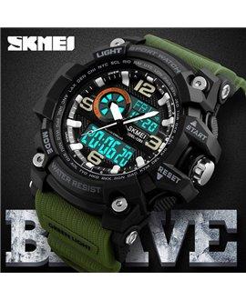 Αθλητικό ρολόι χειρός ανδρικό SKMEI 1283 army green