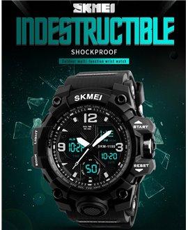 Αθλητικό ρολόι χειρός ανδρικό SKMEI 1155B BLACK