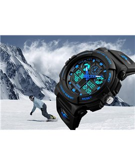 Ρολόι χειρός ανδρικό SKMEI 1270 BLACK WITH BLUE