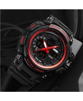 Ρολόι χειρός ανδρικό SKMEI 1343 BLACK WITH RED