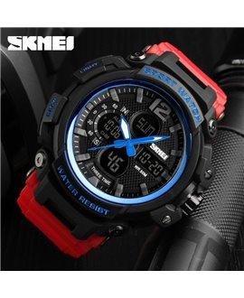 Ρολόι χειρός ανδρικό SKMEI 1343 RED WITH BLUE