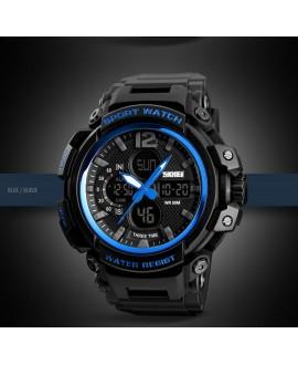 Ρολόι χειρός ανδρικό SKMEI 1343 BLACK WITH BLUE
