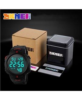 Αθλητικό ρολόι χειρός SKMEI 1068 BLACK WITH RED
