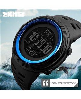 Ρολόι χειρός ανδρικό SKMEI 1251 BLACK WITH BLUE
