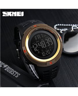 Ρολόι χειρός ανδρικό SKMEI 1251 BLACK WITH GOLD