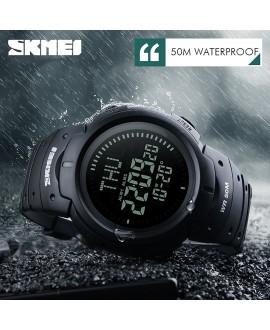 Ρολόι με πυξίδα χειρός ανδρικό SKMEI 1231 BLACK