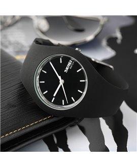 Ρολόι χειρός ανδρικό SKMEI SKMEI 9068 BLACK WITH SILVER
