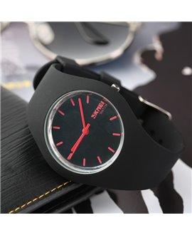Ρολόι χειρός γυναικείο SKMEI 9068 BLACK WITH RED