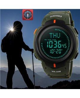 Ρολόι με πυξίδα χειρός ανδρικό SKMEI 1231 GREEN