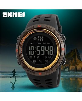 Ρολόι με βηματομετρητή χειρός ανδρικό SKMEI 1250 GOLD