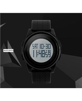Αθλητικό ρολόι χειρός ανδρικό SKMEI 1206 BLACK WITH GREY