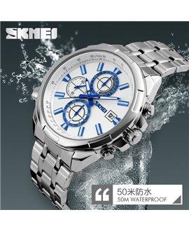 Ρολόι χειρός ανδρικό SKMEI 9107 SILVER/WHITE