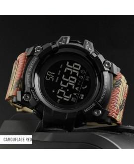 Ρολόι με βηματομετρητή χειρός ανδρικό SKMEI 1385 RED CAMOUFLAGE
