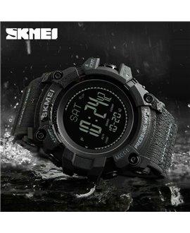 Ρολόι με πυξίδα χειρός ανδρικό SKMEI 1358 BLACK