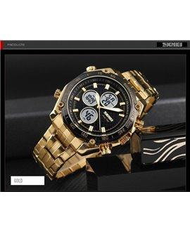 Ρολόι χειρός ανδρικό SKMEI 1302 GOLD