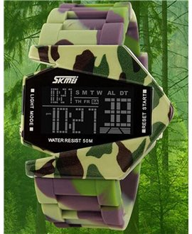 Ρολόι χειρός ανδρικό SKMEI 0817 GREEN CAMOUFLAG