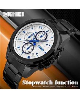 Ρολόι χειρός ανδρικό SKMEI 9109 BLACK/WHITE