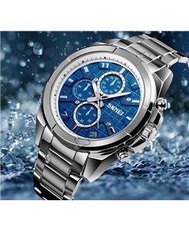 Ρολόι χειρός ανδρικό SKMEI 1378 SILVER/BLUE