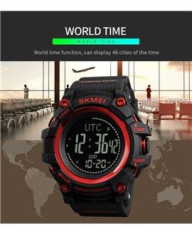 Ρολόι με πυξίδα χειρός ανδρικό SKMEI 1356 RED