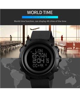 Ρολόι με πυξίδα χειρός ανδρικό SKMEI 1430 BLACK