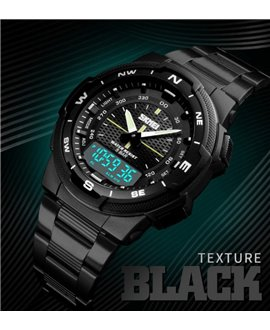 Ρολόι χειρός ανδρικό SKMEI 1370 BLACK