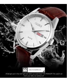 Ρολόι χειρός ανδρικό SKMEI 9073 SILVER/WHITE