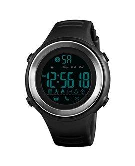 Ρολόι με βηματομετρητή χειρός ανδρικό SKMEI 1396 BLACK/SILVER