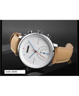 Ρολόι χειρός ανδρικό SKMEI 1399 SILVER/BROWN