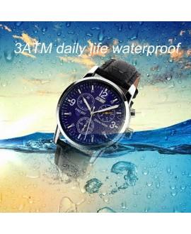 Ρολόι χειρός ανδρικό SKMEI 9070 BLACK/BLUE LEATHER