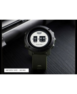 Ρολόι χειρός ανδρικό SKMEI 1486 ARMY GREEN/SILVER DIAL