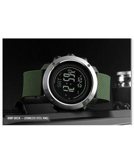 Ρολόι με βηματομετρητή χειρός ανδρικό SKMEI 1418 ARMY GREEN
