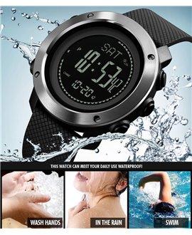 Ρολόι με βηματομετρητή χειρός ανδρικό SKMEI 1418 BLACK/SILVER