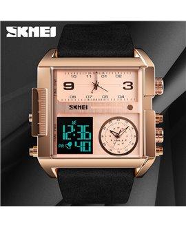 Ρολόι χειρός ανδρικό SKMEI 1391 ROSE GOLD/BROWN