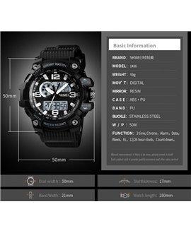 Αθλητικό ρολόι χειρός γυναικείο SKMEI 1436 BLACK