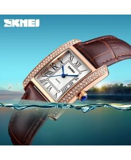 Ρολόι χειρός γυναικείο SKMEI 1281 GOLD/COFFEE