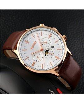 Ρολόι χειρός ανδρικό SKMEI 9117 GOLD/WHITE