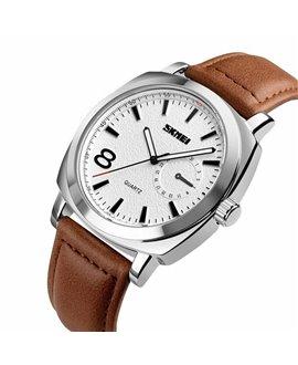 Ρολόι χειρός ανδρικό SKMEI 1466 SILVER LEATHER