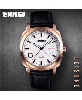 Ρολόι χειρός ανδρικό SKMEI 1466 ROSE GOLD LEATHER