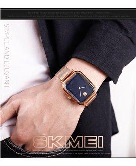 Ρολόι χειρός ανδρικό SKMEI 9187 ROSE GOLD LEATHER
