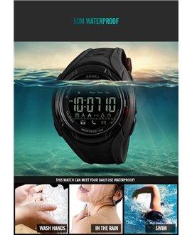 Ρολόι με βηματομετρητή χειρός ανδρικό SKMEI 1316 BLACK