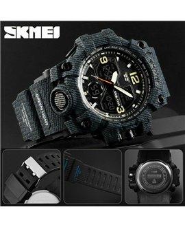 Αθλητικό ρολόι χειρός ανδρικό SKMEI 1155B DEMIN BLACK