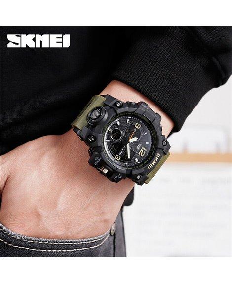 Αθλητικό ρολόι χειρός ανδρικό SKMEI 1155B ARMY GREEN