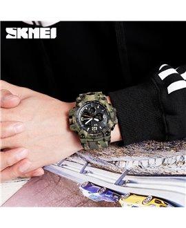 Αθλητικό ρολόι χειρός ανδρικό SKMEI 1155B GREEN CAMOUFLAGE