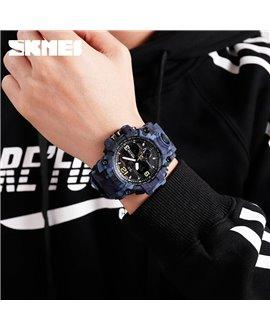 Αθλητικό ρολόι χειρός ανδρικό SKMEI 1155B BLUE CAMOUFLAGE