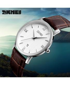 Ρολόι χειρός γυναικείο SKMEI 9130 SILVER/BROWN LADY