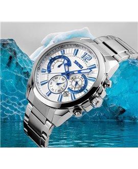 Ρολόι χειρός ανδρικό SKMEI 9108 WHITE/SILVER