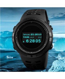 Ρολόι με πυξίδα χειρός ανδρικό SKMEI 1360 BLACK